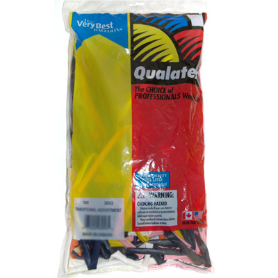 260Q Traditional Assortment 10 Bags (1000 balloons)
