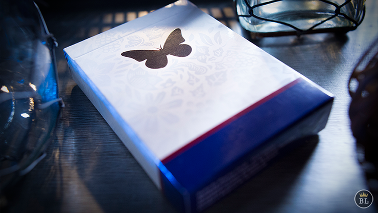 >Butterfly Playing Cards Marked (Blue)