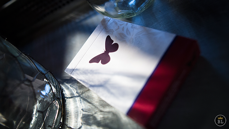 >Butterfly Playing Cards Marked (Red)