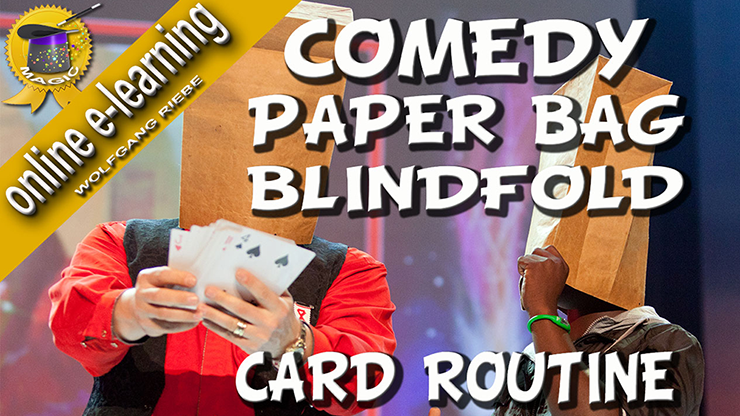 Comedy Paper Bag Blindfold Routine by Wolfgang Riebe video DOWNL