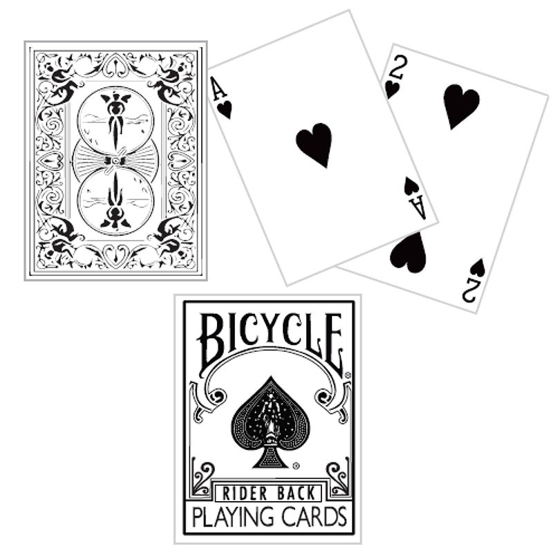 White Backed Bicycle Deck