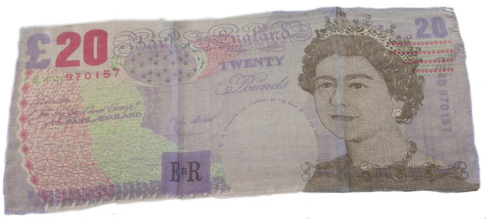 >£20 Note Silk