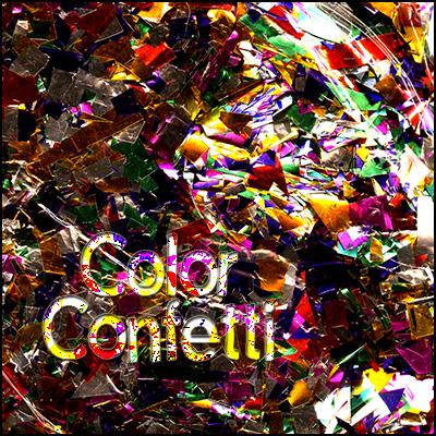>Coloured Glitter Confetti