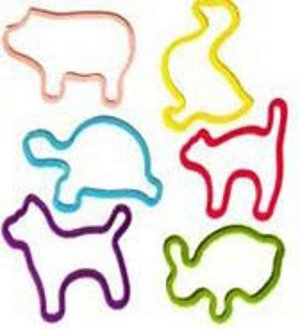Shaped Rubber Bands (Animals)