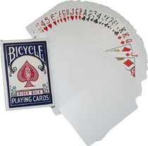>Blank Back Bicycle Cards x 5