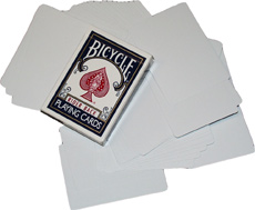 >Blank Bicycle Cards (Double Blank) x 5