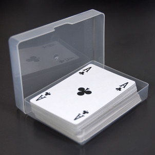 Clear plastic deck box