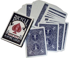 >Double Back Bicycle Cards Blue - Blue x 5