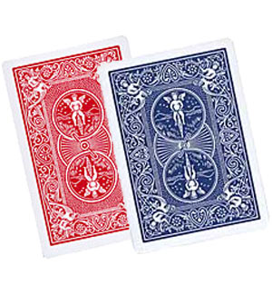 >Double Back Bicycle Cards Blue - Red x 5