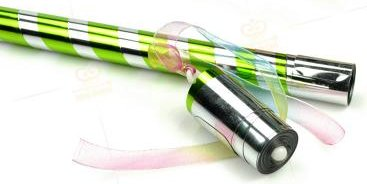 >Appearing Cane 90cm (Green & Silver)