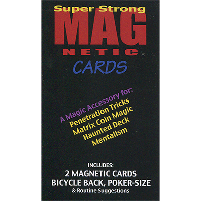 Magnetic Cards (2 pack/Red & Blue) by Chazpro Magic