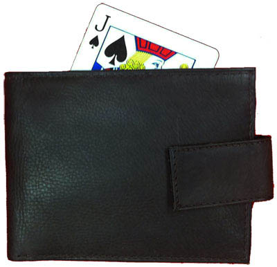 >Card to Wallet - Genuine Leather