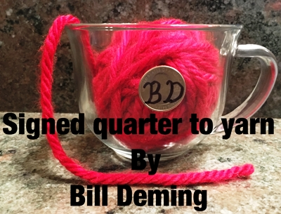 Signed Quarter To Yarn