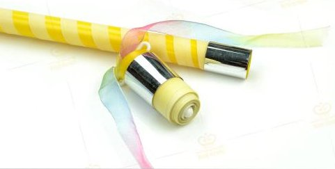 >Appearing Cane 90cm (Yellow & Silver)