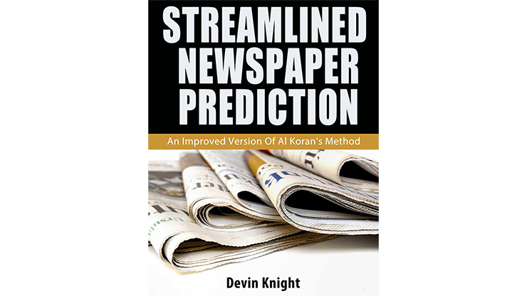 >Streamlined Newspaper Prediction by Devin Knight eBook DOWNLOAD