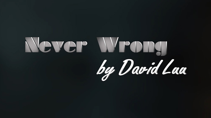 Never Wrong by David Luu video DOWNLOAD